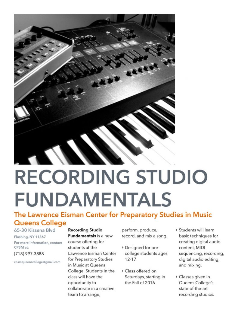 Recording Studio Fundamentals Flyer